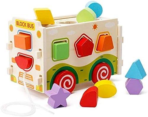 XuBa Kit de construction en bois Removable pour enfant Fr\u00fche P\u00e4dagogique Jouet en bois pour enfant Als Bild Zeigen