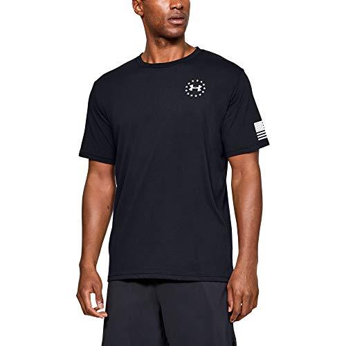 Under Armour Men's Freedom Flag T-Shirt , Black (001)/White , 3X-Large