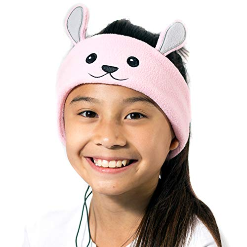 CozyPhones Kids Headphones for Girls Volume Limited with Thin Speakers & Super Soft Stretchy Headband - Perfect Toddlers & Children's Earphones for Home, School & Travel - Ivory Panda