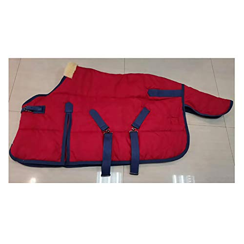 MaJu Produits de Harnais de Qualité 420d Couverture de Poney Chaude et RéSistante au Vent(Size:115cm)
