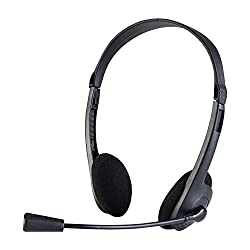 Quantum QHM-2 Wired Headset with Mic (Black)