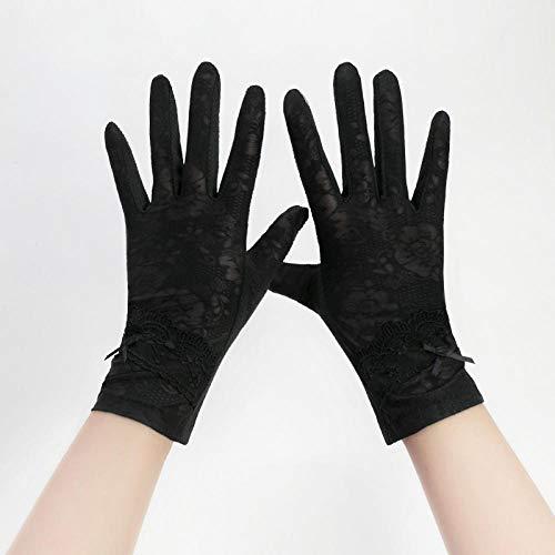 SHOUtao Rutschfester, atmungsaktiver Fünf-Finger-Dünnschnitt-Bildschirm mit Straßenbahn, kurzer Abschnitt, der Sonnenschutzhandschuhe für den weiblichen Sommer-Eisseiden-UV-Schutz fährt