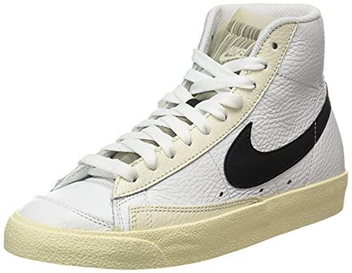 Nike Wmns Blazer Mid '77, Scarpe da Basket Donna, Summit White/Black-Pale Ivory-Beach-White, 35.5 EU