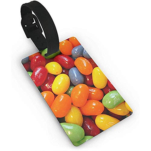 Halloween Sour Gummy Jelly Beans Plastic PVC Luggage Tags Suitcase Labels Travel Bag ID Tags