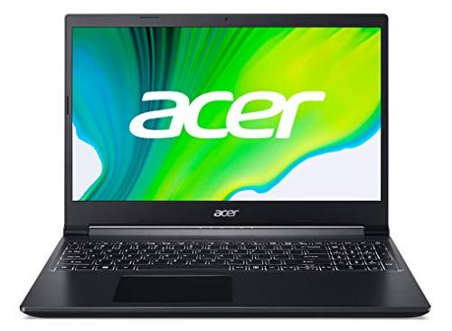 Acer Aspire 7 - Ordenador portátil 15.6' FullHD (AMD Ryzen 5-3550H, 8GB RAM, 512GB SSD, NVIDIA GeForce GTX1650-4GB, Sin Sistema Operativo) Negro - Teclado QWERTY Español