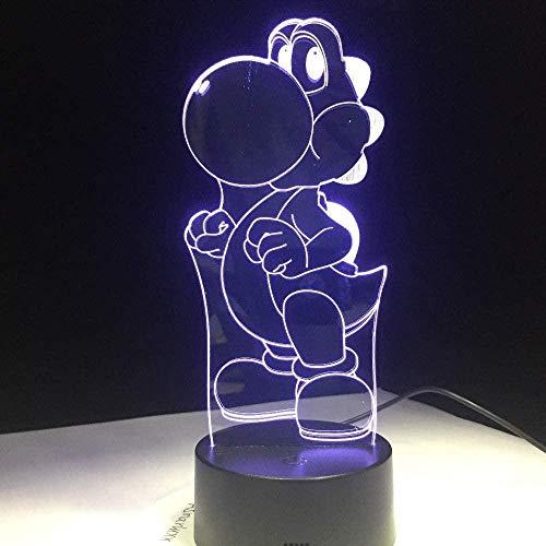 Lámpara de ilusión óptica LED 3DSprite7 Lámpara de humor LED que cambia de color para decoración de dormitorio Regalos de cumpleaños y vacaciones para niños