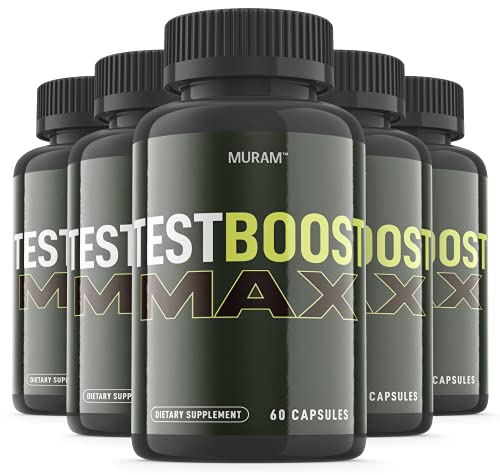 (5 Pack) Official Test Boost Max for Men Supplement Advanced...
