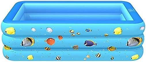 CZYSKY Piscina Hinchable Cuadrada, Piscina Infantil para Uso doméstico, Piscina Infantil Grande Adecuada para Patio 130x85x50 cm Azul