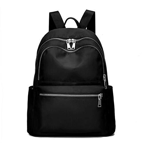 QUK Oxford Laptop Rucksack Geldbörse Für Frauen - Reise Kleine Rucksäcke Reisetaschen Süße Schwarze Mini-Rucksäcke Große Haltbare Teen Girls Bookbag Geldbörse Leichter Rucksack