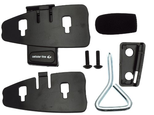 BlueAnt SP-BAW-F4-85 Spare Parts Kit for F4 Stereo Bluetooth Interphone Motorcycle Kit - Retail Packaging - Black