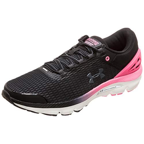 Under Armour Women's Charged Intake 3 Running Shoe, Black (001)/Mojo Pink, 8.5 M US