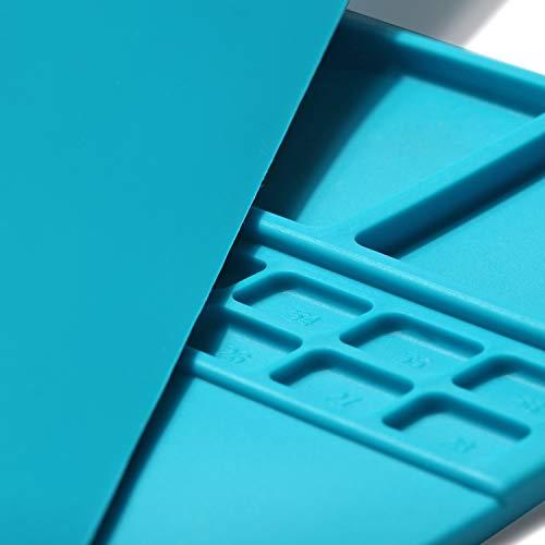 Mat Repair Heat Resistant 932°Soldering Mat Silicone Work Mat For Repairing Electronics Mat Workbench Pad Board for Soldering for Repairing Work,BGA Repair Station (Dark Blue)
