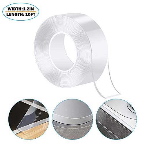Caulk Strip PMMA Self Adhesive Waterproof Repair Tape for Bathtub Bathroom Shower Toilet Kitchen and Wall Mildew Sealing (59/50 Inch Width x 10 Feet Length,Transparent)