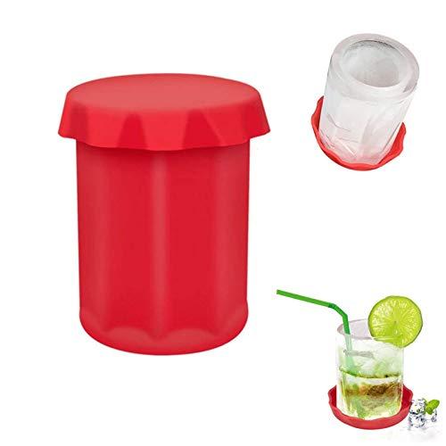 Molde de silicona para vidrio de hielo, molde grande para vaso de hielo, molde para congelar, molde para hielo en forma de copa de vino para fiesta de verano, bar en casa, evento de cocina (1 PC)