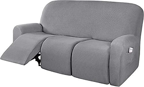 Funda Cubre Sofá Fundas para Sillas Cubiertas de sofás reclinable, sofá Sofá Sofá Sofá Cubierta Muebles Protector Sofá Sofá con inferiores elásticos Niños, Cubiertas de muebles Grueso suave lavable