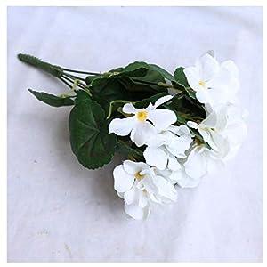 HNFSBOX Artificial Flowers Artificial Begonia Flowers Fake Hydrangea Flower Home Office Wedding Decoration