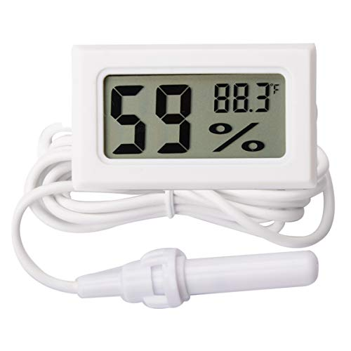 AUTIDEFY Mini Digital Electronic Temperature Humidity Meters Gauge Indoor Thermometer Hygrometer LCD Display Fahrenheit (Humidity with Probe)