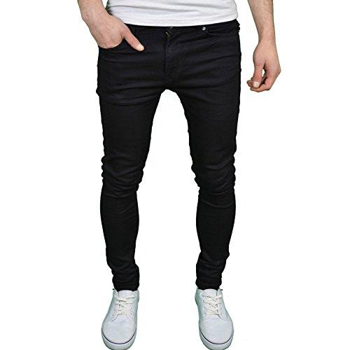 Enzo - Jeans molto aderenti per uomo nero 38
