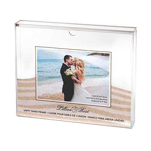 Lillian Rose US850 Clear Acrylic Unity Sand Ceremony Photo Frame, 1.6x11.4x9.25