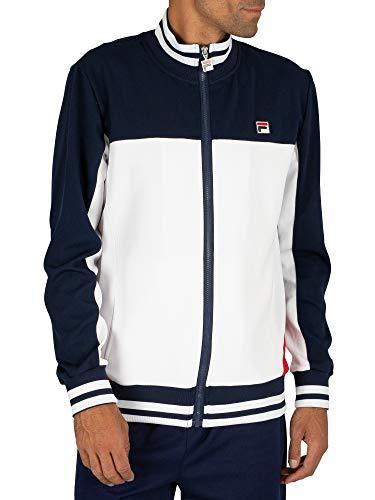 Fila Vintage White Line Mens Tiebreaker Track Jacket Peacoat Navy/White XL