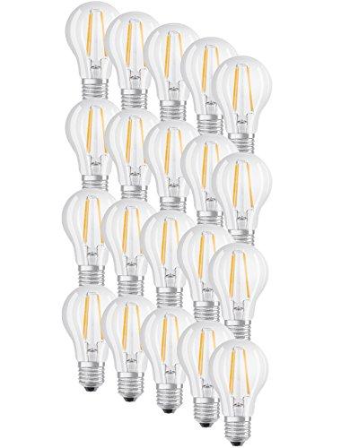 OSRAM LED BASE CLASSIC A60 FILAMENT E27 7W=60W 806lm warm weiß 2700K nondim 20er