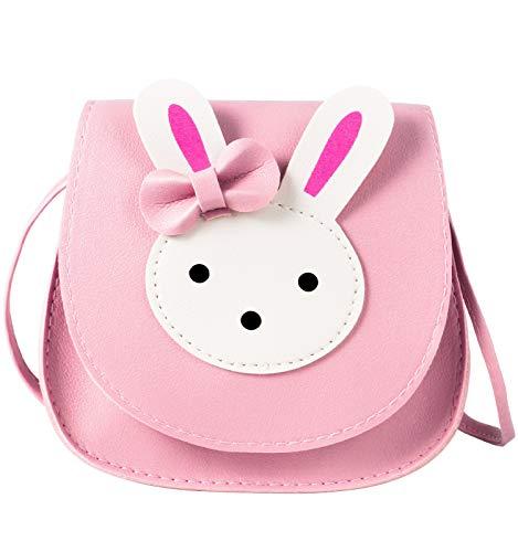 ORPAPA Mädchen Umhängetasche, Kinder Niedlicher Hase CrossBody Bag Handtasche Mini Prinzessin Messenger Bags Geldbörse mit verstellbarem Gurt für Kinder Mädchen