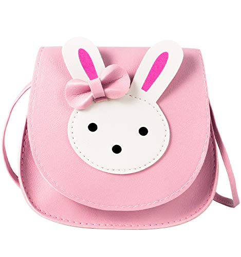 ORPAPA Bolso de hombro para niñas, bonito bolso de mano cruzado, con correa ajustable para niños, niñas pequeñas, color Rosa, talla M