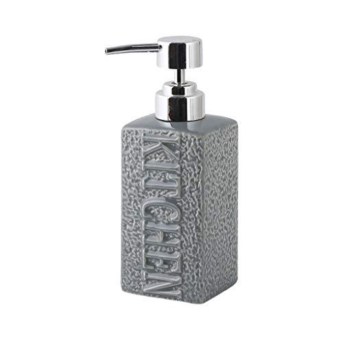 Ceramica Dispenser di Sapone In Ceramica Distributore di Liquidi per Lavaggio pper Bagno Bottiglia di Lozione per Bagno Bottiglia di Bottiglia Vuota Bottiglia di Shampoo Con Shampoo 350ml acciaio ino