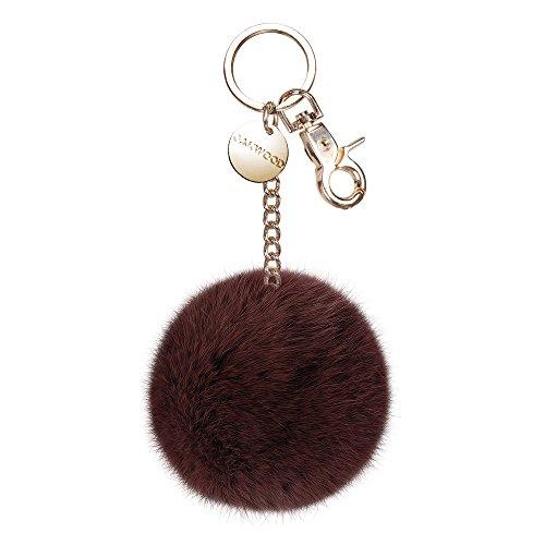 Oakwood Damen Schlüssel- Taschen- Fellanhänger Xelda Tobacco (braun)