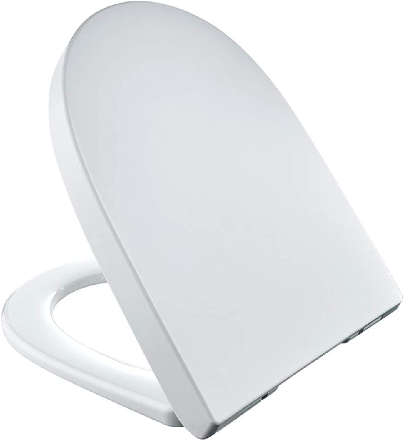 S-graceful Toilet Lid With Silent Slow Down Ultra Resistant Top Fixed U Shape Toilet Seat Cover For Family Use Toilet Seat,White-40.847.4cm36.5cm