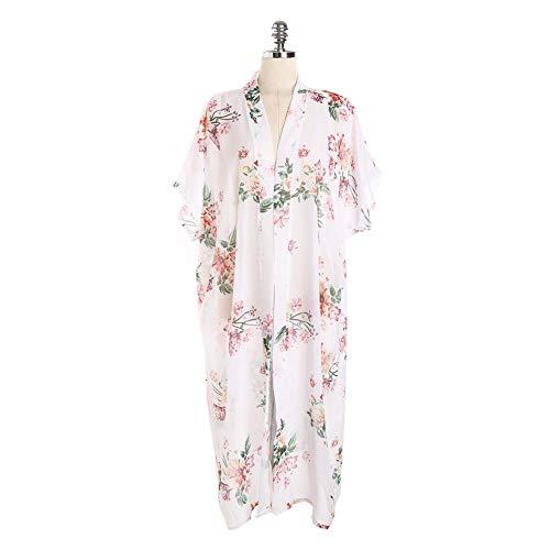 Badpak voor op het strand, voor de zomer, Kimono blouse Beach Top Bikini Cover UP Dress zonwering zonnekleding Sun Protectio