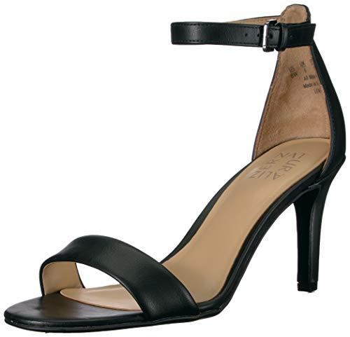 Naturalizer womens Leah Heeled Sandal, Black, 6.5 US