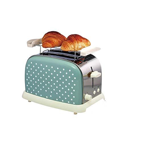 WANGYIYI Tostadores multifuncionales 220-230V 1000W Máquina de desayuno de acero inoxidable automático de 220-230V 1000W Máquina de desayuno de 2 rebanadas con la cubierta de polvo de la parrilla 28x1