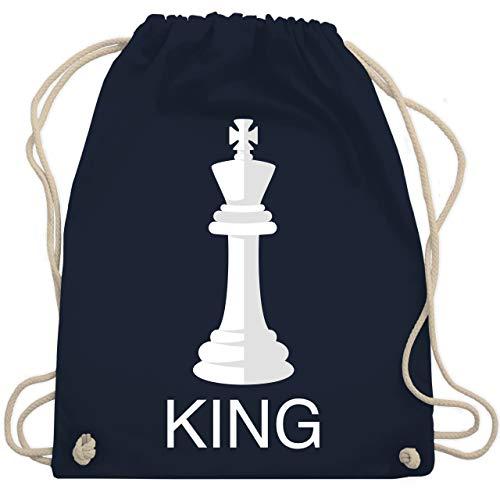 Shirtracer Karneval & Fasching Kostüm Outfit - Kings Schachfigur Karneval Kostüm - Unisize - Navy Blau - turnbeutel schach - WM110 - Turnbeutel und Stoffbeutel aus Baumwolle