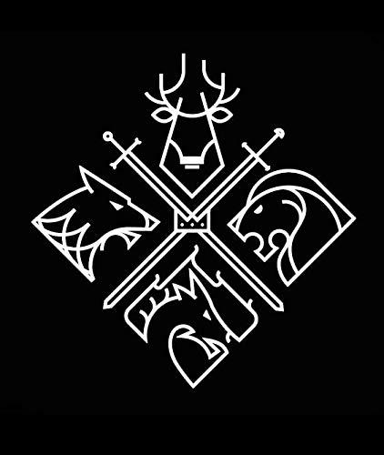 Game of Thrones Crest Makarios LLC |Cars Trucks Vans Walls Laptop MKR| White |5.5 x 5.25|MKR846