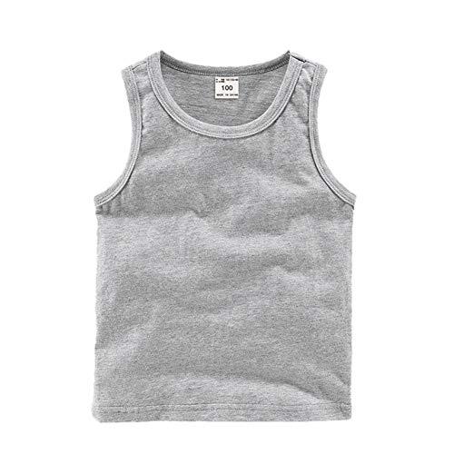 DQCUTE Kleinkind Baby Jungen Mädchen Solide Tank Tops T-Shirts Unterhemden Baumwolle Sommer Sleeveless Weste Grau 12-18 Monate