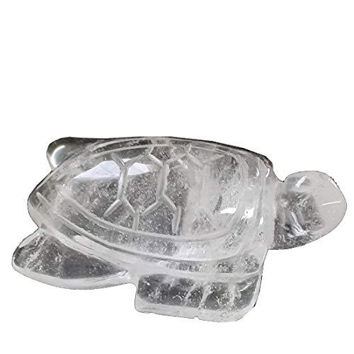 Edelsteinartikel Bergkristall-Stein Schildkröten Figur 5 cm   Kristall Wasser-Schildkröten Tier-Gravur  Glücksbringer-Heilstein-Sammelobjekt-Geschenk und Deko