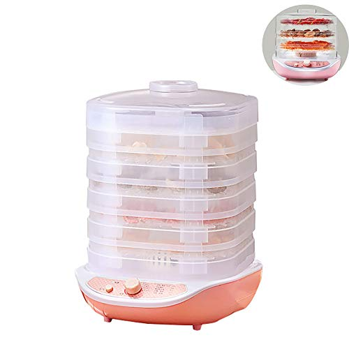 Fantastic Deal! Food Dehydrator, 5-Tray Temperature Control Adjustable Lifting Electric Fruit Dryer,...