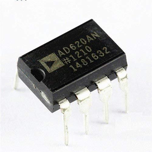 ZTSHBK 5 PCS Instrumentenverstärker IC Analoge Geräte DIP-8 AD620AN AD620ANZ