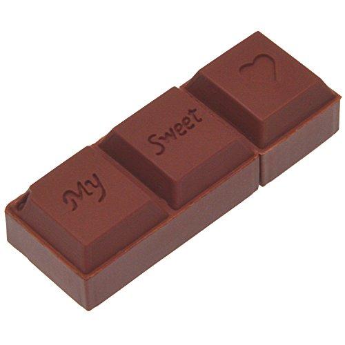 Chiavetta USB da 16 GB Uflatek Cioccolato Pen Drive Marrone Memoria Stick 16 Giga Pennetta USB 2.0 Flash Drive 16GB Penna USB Carina per Computer Tablet e PC