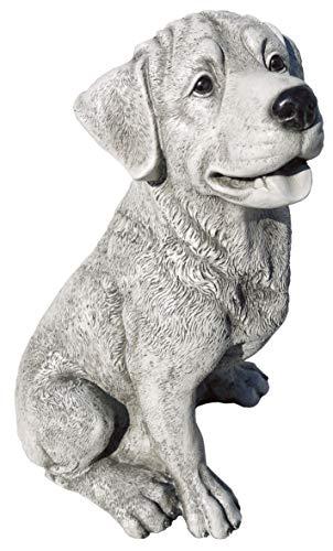 AnaParra Figura de jardín Perro Bono 41cm. para el jardín en hormigón-Piedra Natural Musgo