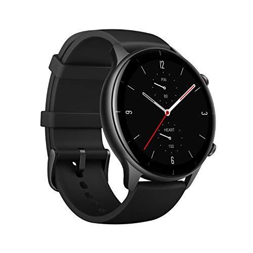 Smartwatch Amazfit GTR 2e, Relógio Inteligente, 2.5D Curved Bezel-Less Design, 1.39 〞Always-On Amoled Display, SpO2 & Stress Monitor, GPS integrado, Bateria de 24 dias, 90+ Modelos Esportivos, 50+ mostradores de relógio (Preto)