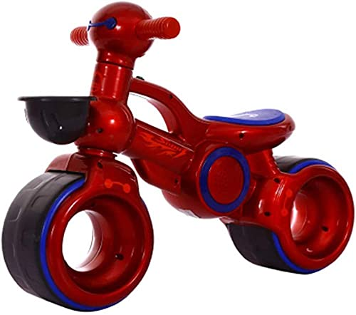 Baby Balance Bike Ride on Bikes Niños Bicicleta deslizante Bicicleta 4 Ruedas Trike Niño Caminante Color Rojo 1-3 años de edad Rojo