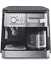 De'Longhi Combi Espresso and Filter Coffee Machine, BCO420, Silver, UAE Version
