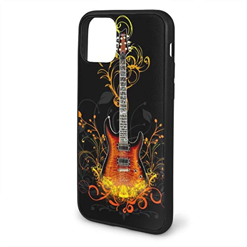 MKDIJIUWL Rock Guitars Wallpaper Shockproof Protection Soft Cover Anti-Scratch TPU Cases for iPhone 11 Series