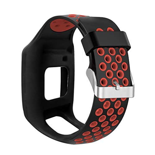 kdjsic Correa de Reloj de Silicona Suave a Prueba de Golpes Correa de muñeca Reemplazo de la Pulsera para Tomtom 1 Multi-Sport GPS HRM CSS Am Cardio Runner Accesorios de Reloj