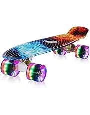 streakboard Skateboard, Skateboard Cruiser para Principiantes, 7 Capas Monopatín de Madera de Arce Canadiense con Rodamientos de Bolas ABEC-7 para Niñas Niños Adolescentes Adultos