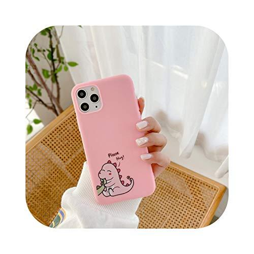 Funda de silicona para iPhone 12 Mini 11 Pro Max X XR XS Max 7 8 6 6s Plus 5 5s SE 2020 Candy Color Case-CS16-60-iPhone 12 Mini
