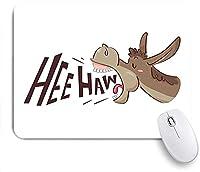 KAPANOU マウスパッド、HEEホーテキスト面白い家畜の肖像画と漫画の編みこみロバ おしゃれ 耐久性が良い 滑り止めゴム底 ゲーミングなど適用 マウス 用ノートブックコンピュータマウスマット