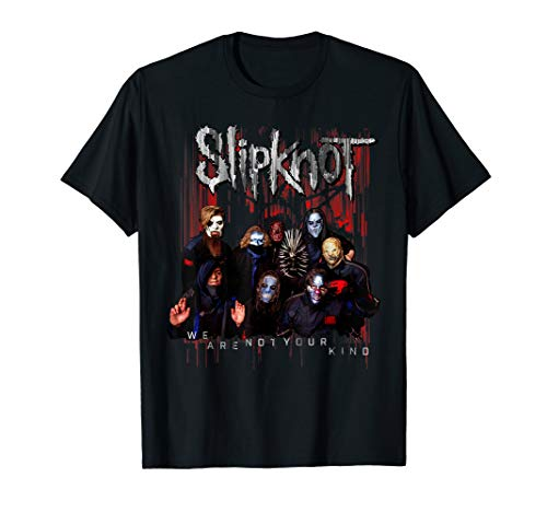Slipknot Official We Are Not Your Kind Red Group T-Shirt T-Shirt